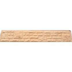 12 inch Buff Rock Face Gravel Board