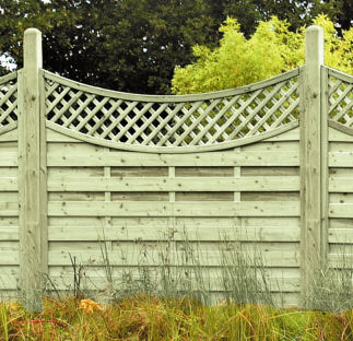 concave lattice top these look great on their own or when used together with the arch lattice top - Decorative Fence Panels