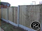 Concrete posts & Gravel Boards, Tannalised Vertilap Fence Panel