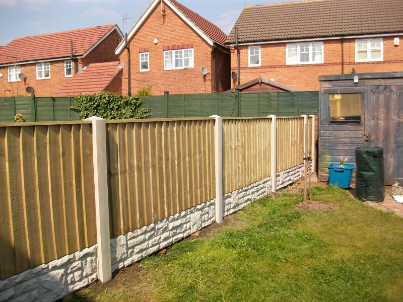 Vertilap Fence Panels Tanalised Green Bentinck Fencing