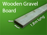 Wooden Gravel board 1